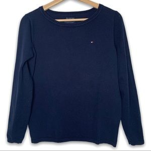 Tommy Hilfiger Pima Cotton Blend Logo Sweater